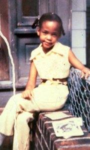 Whitney Houston as a child