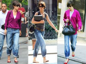 Katie Holmes in pegged jeans