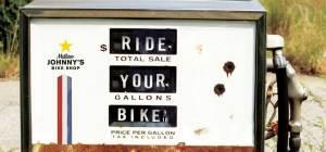 """Ride your bike"" gas pump"